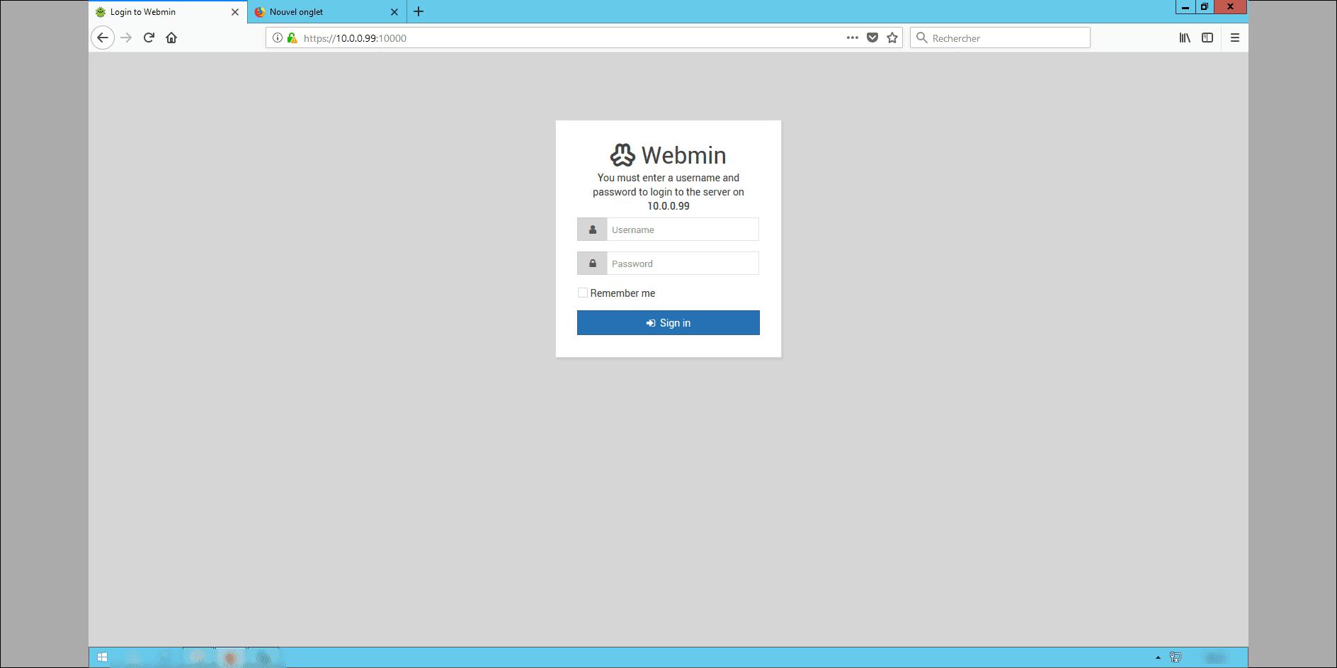 installation de webmin sur ubuntu