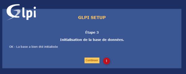 GLPI database installed