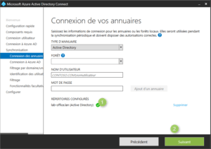 Azure AD Connect configure AD local
