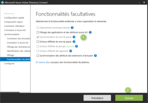 Azure AD Connect configure options
