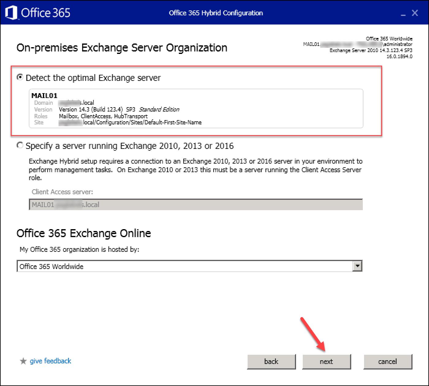 Exchange Minimal / Express hybrid migration to Office 365