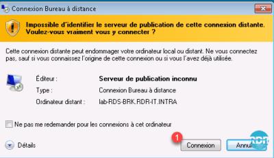 Connexion via RDC
