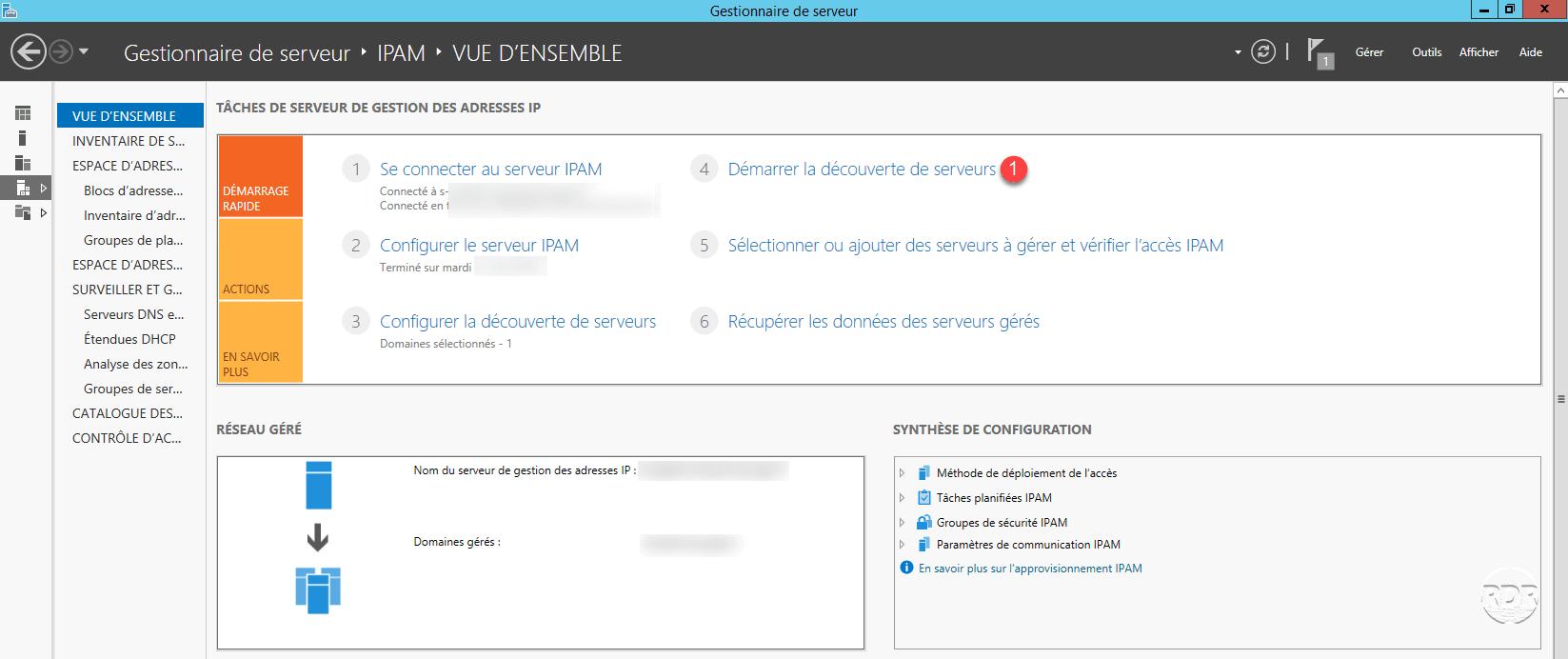 Lancer la découverte des serveurs
