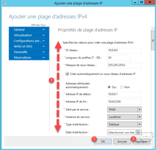 Gestion hors DHCP