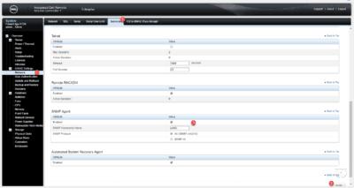 Idrac configuration SNMP
