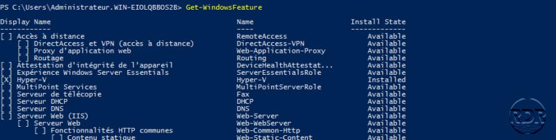 Get-WindowsFeature