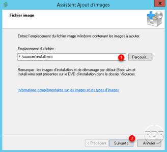 Indiquer le chemin du fichier install.wim