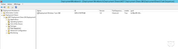 Secuencia agregada en la consola MDT