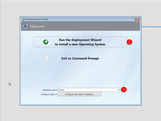MDT : deploiement de Windows