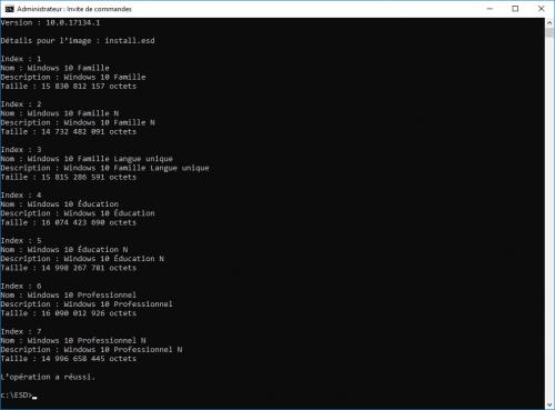 Liste des versions de Windows