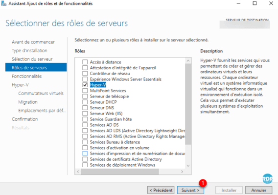 role hyper-v checked