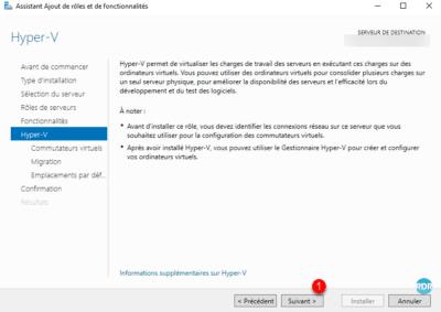 Assistant de configuration hyper-v