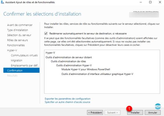 Start hyper-v install