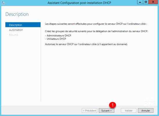 Assistant autorisation serveur DHCP AD