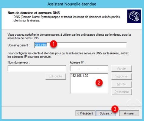 Opciones de DNS
