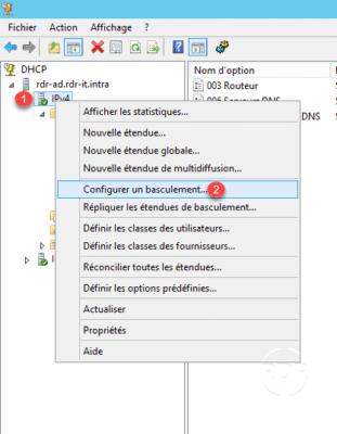 Configuration du basculement DHCP