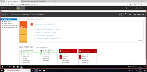 Bureau à travers le client HTML5