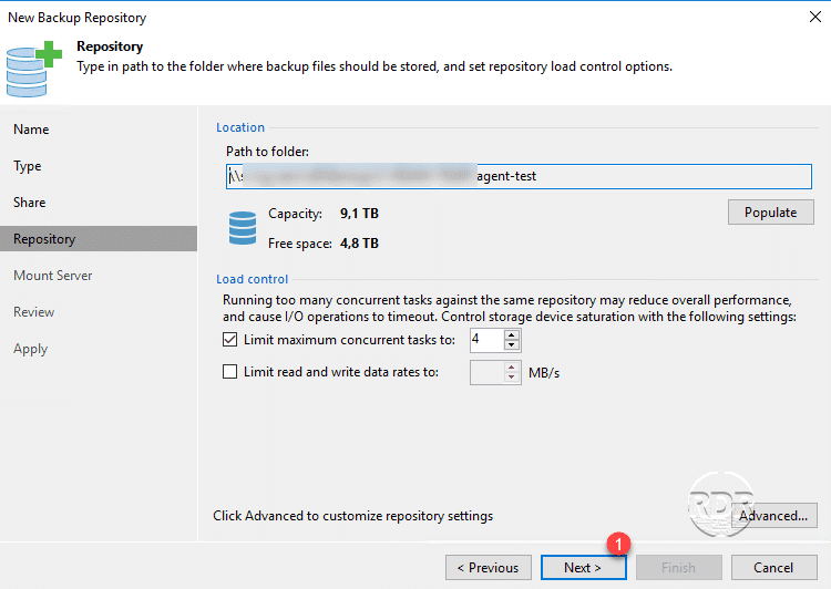 Veeam import a backup repository - RDR-IT