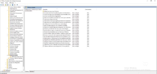 Parametre Windows update