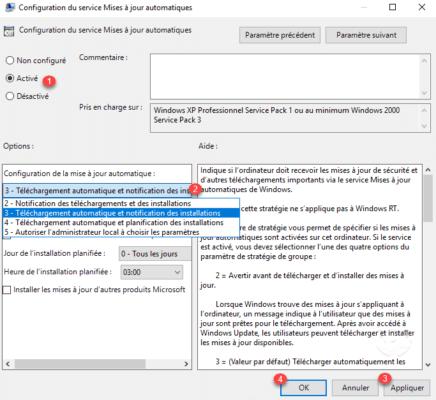 Comportement Windows Update