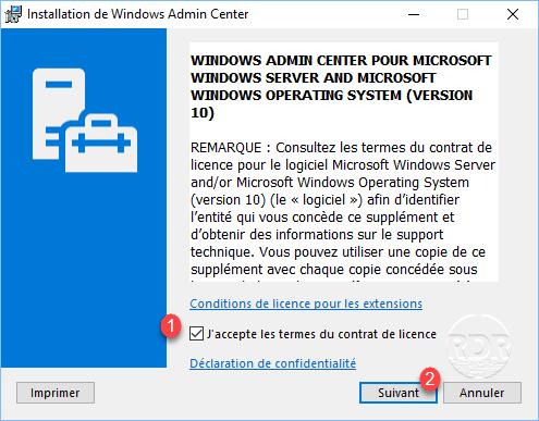 Admin Center Install