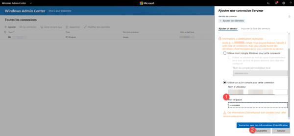 Admin Center Add Server