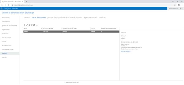 database mounted