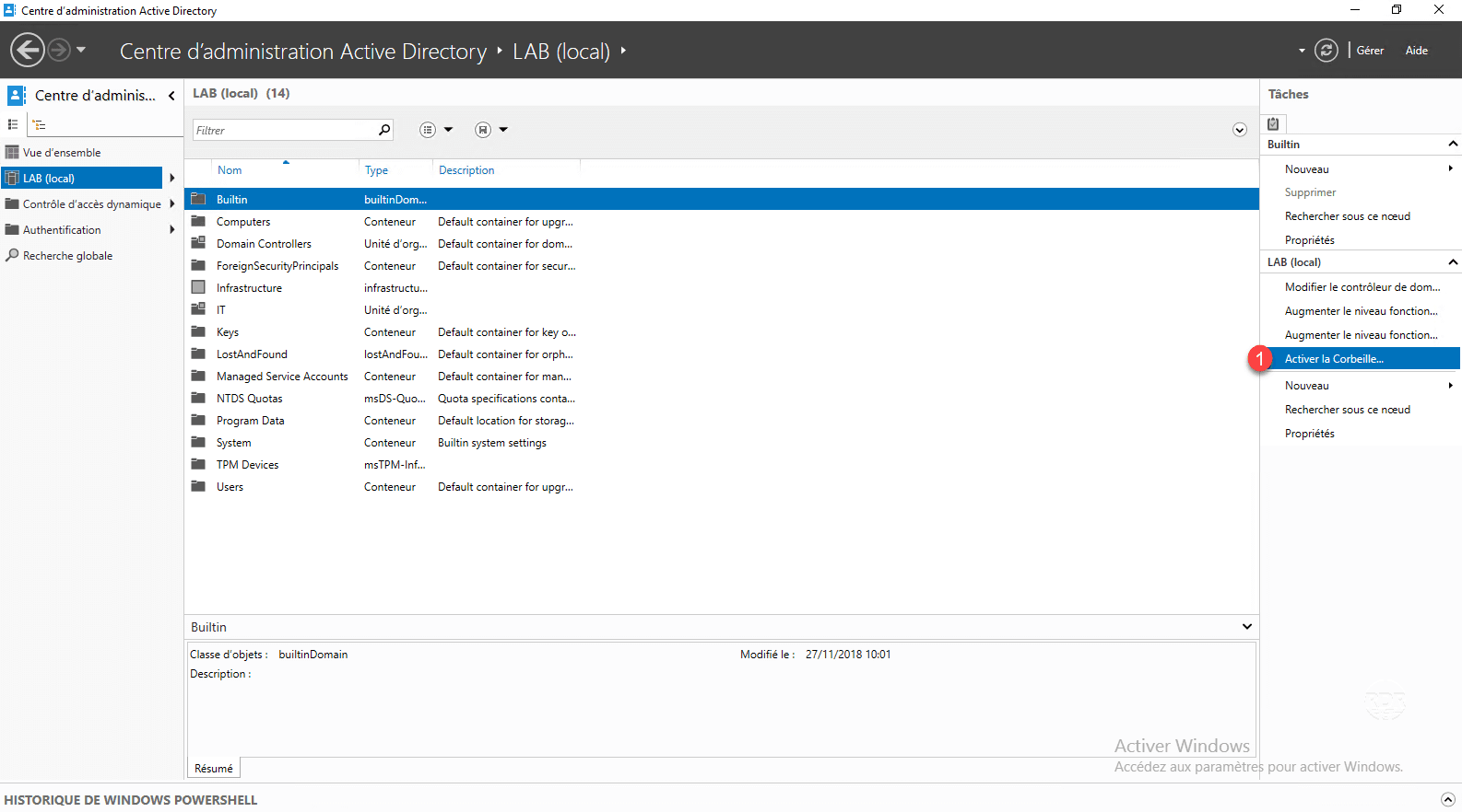 Enable Windows Active Directory Recycle Bin 2012/2016/2019 - RDR-IT