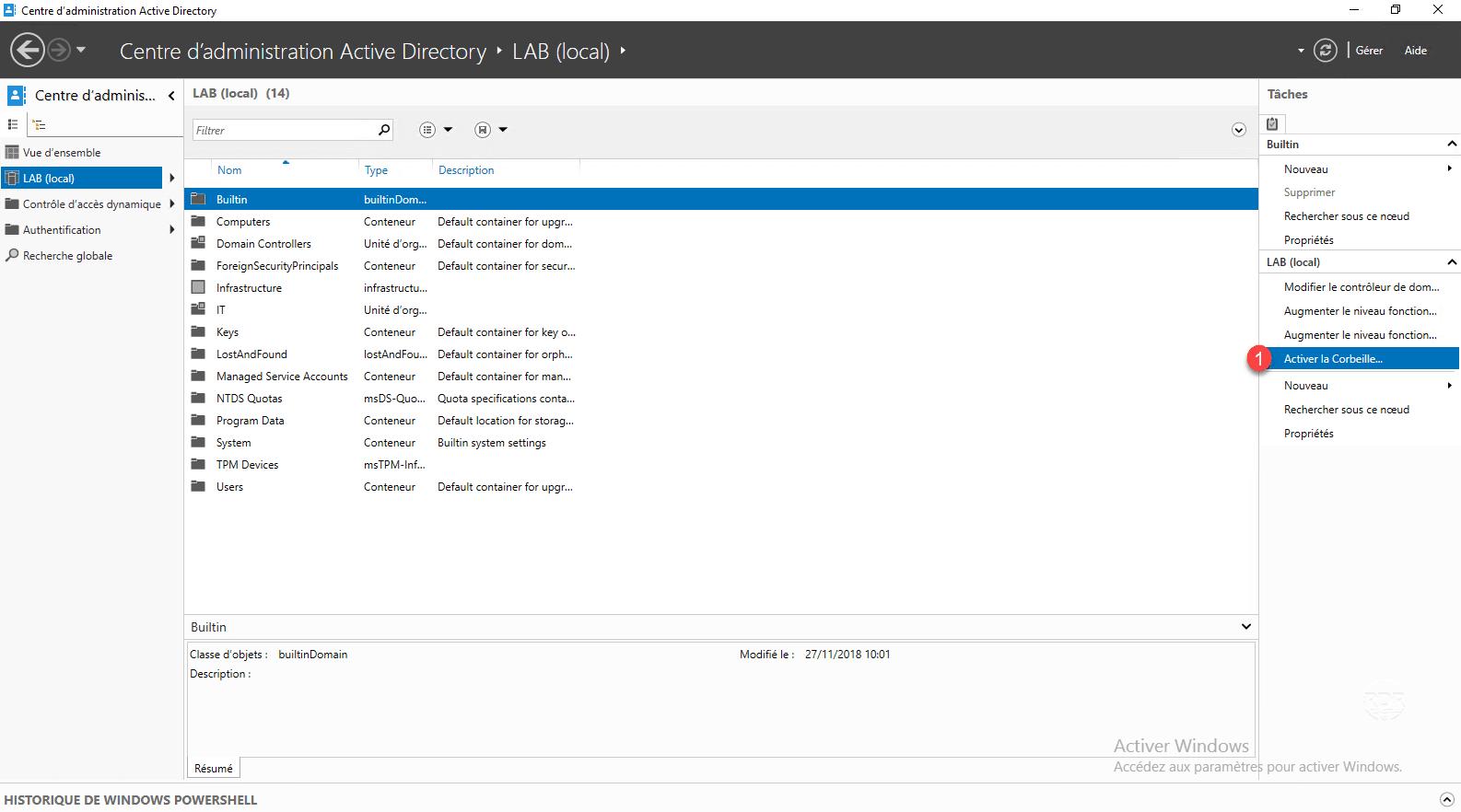 Enable Windows Active Directory Recycle Bin 2012/2016/2019