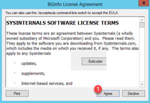 Accept license