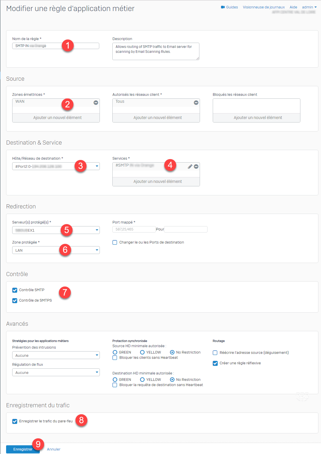 Sophos Routing