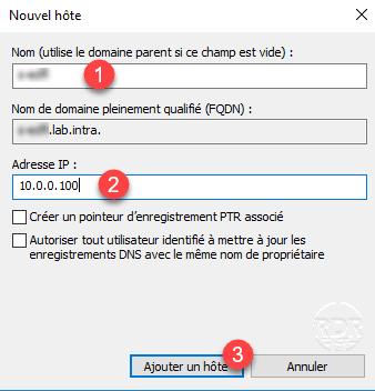 DNS Windows add record A