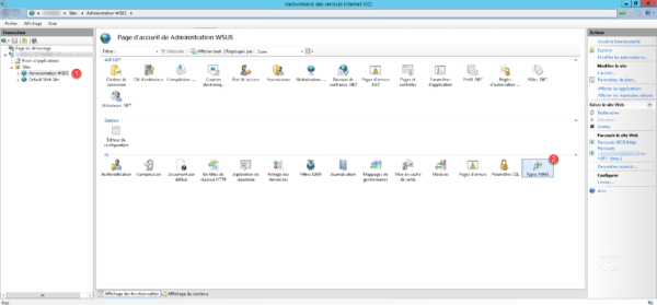 Console IIS on WSUS