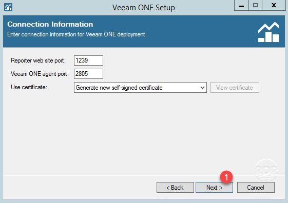 Veeam ONE port connection