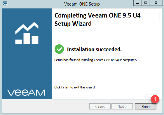 Veeam ONE installed