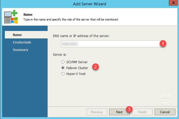 Server name or IP