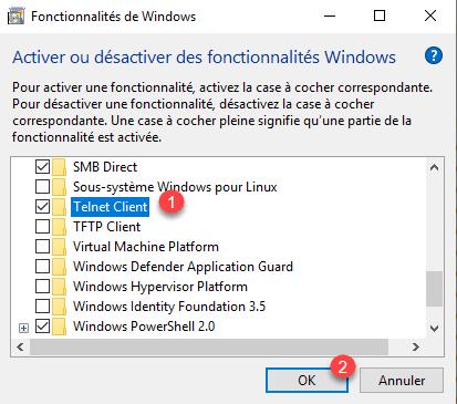 Windows 10: Installing the Telnet Client - RDR-IT