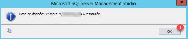 Database restored