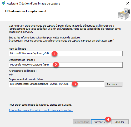 WDS: installation and configuration - Create a capture image