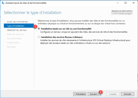 Type install
