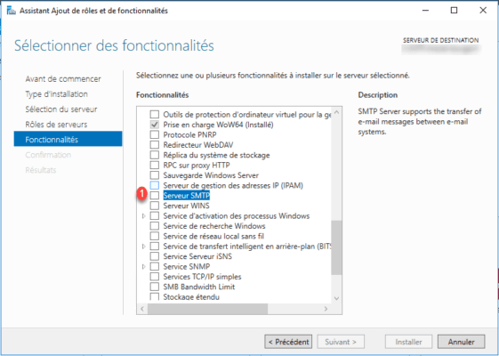 Select SMTP Server