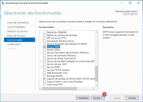 SMTP Server checked