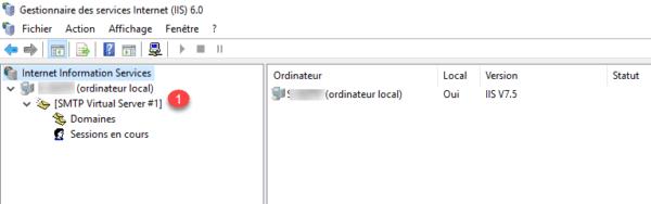 Serveur SMTP administration