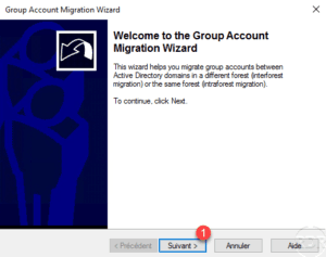 ADMT wizard migration