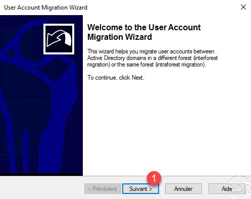 Wizard migration user