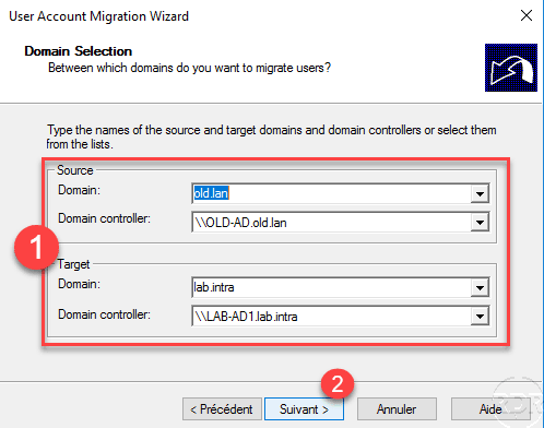 Source and Target configuration