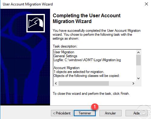 ADMT start migration user