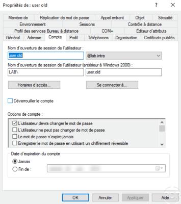 Change password active