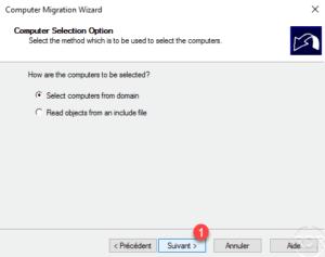 ADMT - select computer option