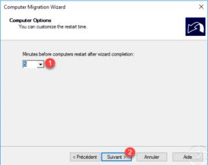restart time after migration